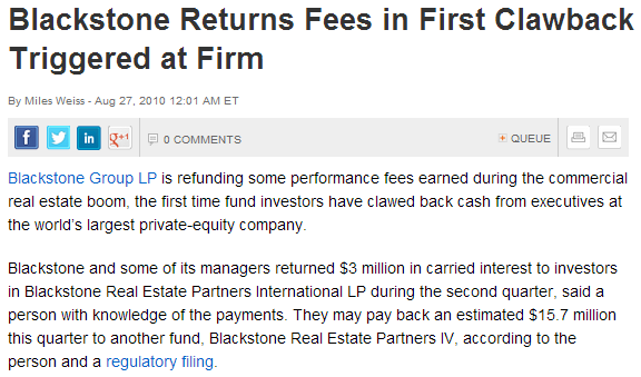 In plain english the private equity fund general partner clawback blackstone platinumwayz