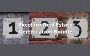 Excel for Real Estates Cartification Bundle Courses