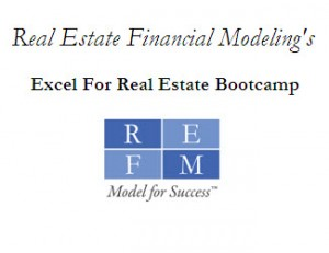 Video On-Demand - Excel For Real Estate Bootcamp Self-Study Video Tutorial with Excel File - $225 Standard / $95 Academic
